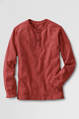 Lands' End Little Boys' Long Sleeve Henley Shirt