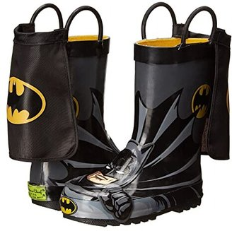 Western Chief Batman Everlasting Rain Boot (Toddler/Little Kid/Big Kid) (Black) Boys Shoes