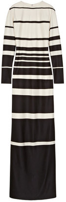 Marc Jacobs Striped silk-jersey maxi dress