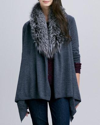 Alice + Olivia Izzy Cozy with Detachable Fur Collar