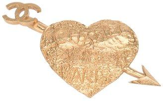 Chanel heart brooch