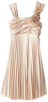My Michelle asymmetrical pleated dress - girls 7-16