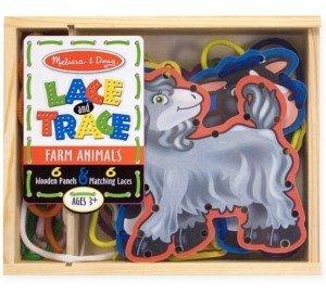 Melissa & Doug Kids Toys, Farm Animals Lace and Trace Panels