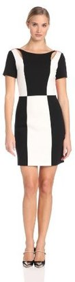 Rebecca Minkoff Women's Crystal Short Sleeve Colorblock Dress