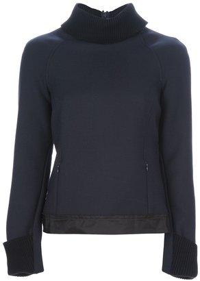 Jil Sander Navy high-necked sweater