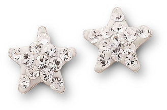 Bridge Jewelry Crystal Star Stud Earrings Sterling Silver $26 thestylecure.com