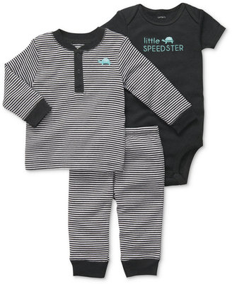 Carter's Baby Boys' 3-Piece Turtle Speedster Bodysuit, Top & Pants Set