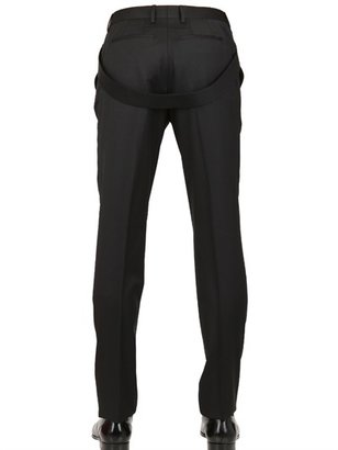 Givenchy 18cm Belted Wool Twill Trousers