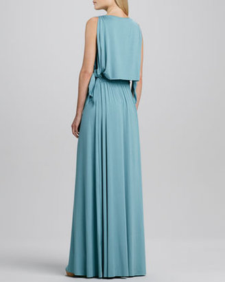 Rachel Pally Birdie Draped Grecian Maxi Dress