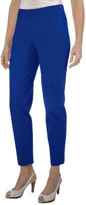 Paperwhite Stretch Cotton Crop Pants (For Women)