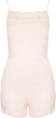 Topshop Lace Insert Cami and Shorts
