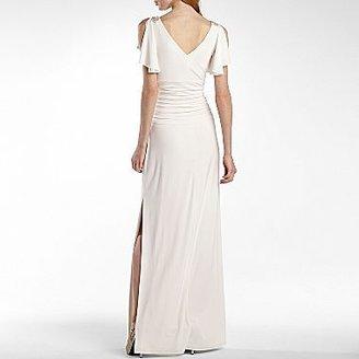 JCPenney American Living Flutter-Sleeve Appliqué Dress
