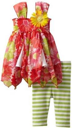 Bonnie Baby Girls Infant Floral Hankyhem Legging Set