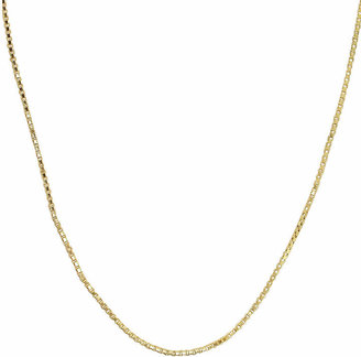 PRIVATE BRAND FINE JEWELRY Made in Italy 14K Yellow Gold Hollow Box Chain