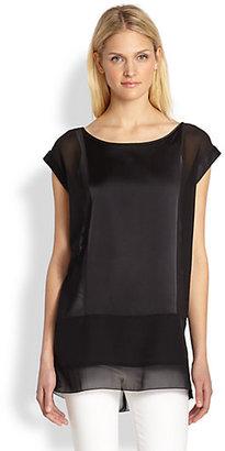 Eileen Fisher Silk Cap-Sleeve Tunic