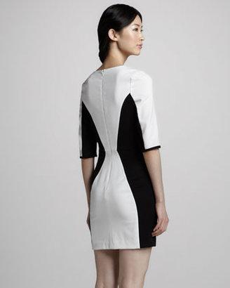 Black Halo Terri Contour Colorblock Dress