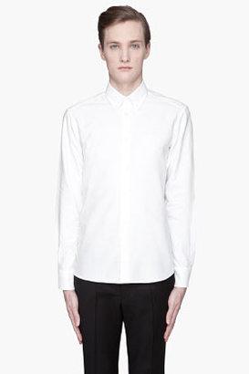 Kitsune MAISON White Fox Embroidered classic button down shirt