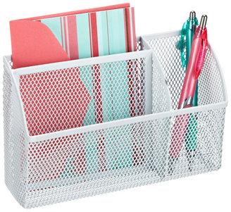 Container Store Mesh Magnetic Organizer Bin White