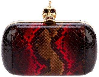 Alexander McQueen python skin box clutch