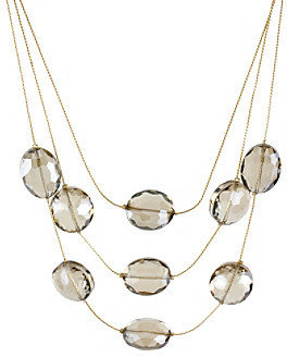 Kenneth Cole Topaz Faceted Bead Illusion Necklace