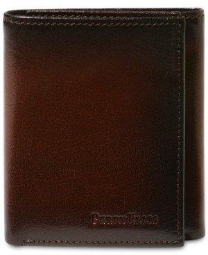 Perry Ellis Portfolio Men's Leather Michigan Slim Ombre Trifold Wallet