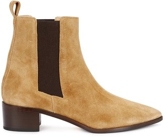 AEYDĒ Lou 40 Sand Suede Chelsea Boots