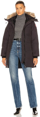 Canada Goose Shelburne Parka with Coyote Fur in Navy | FWRD