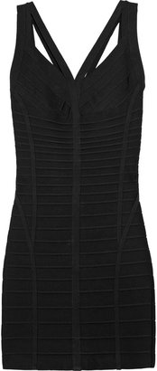 Herve Leger Cutout bandage dress