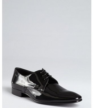 HUGO BOSS Boss black patent leather oxfords