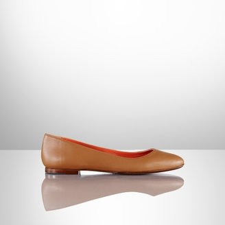 Ralph Lauren Calfskin Tish Ballet Flat