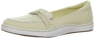 Grasshoppers Women's Highview Slip-On Loafer,Stone Canvas,12 W US
