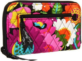 Vera Bradley Zip Around Wallet (Va Va Bloom) - Bags and Luggage
