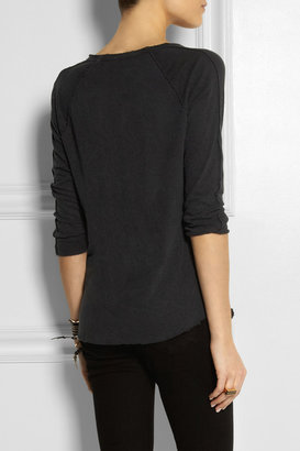 James Perse Inside Out slub linen and cotton-blend top