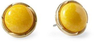 Pim + Larkin Round Cabochon Stud Earring