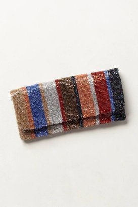 Moyna Bead Stripe Clutch