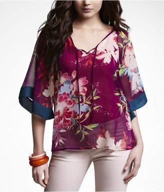Express Floral Kimono Blouse