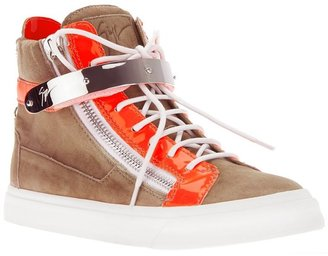Giuseppe Zanotti Design colour block hi-top sneakers