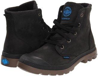 Palladium Pampa Hi Lt L Gusset (Black/Dark Gum) - Footwear