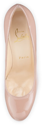 Christian Louboutin Simple Patent Red Sole Pump, Nude