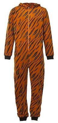 New Look Tiger Print Hooded Onesie