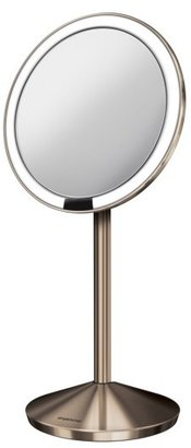 Simplehuman Mini Countertop Sensor Makeup Mirror $130 thestylecure.com