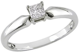 Diamond Solitaire Ring in 10k White Gold
