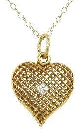 Cathy Waterman Lacy Heart Locket in 22kt Gold
