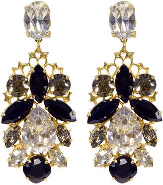Anton Heunis Crystal Leaf Earrings