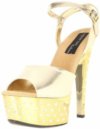 The Highest Heel Women's Dazzle-11-Gmet Platform Sandal
