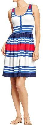 Old Navy Women's Striped Henley Tank Dresses