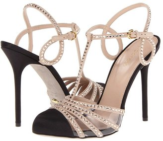 Sergio Rossi A53881-MAF103-6902 (Nude Satin Goat Suede) High Heels