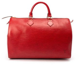 Louis Vuitton Pre-owned: red epi leather 'Speedy 35' bag