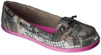 Xhilaration Women's Tonia Sequined Boat Shoes - Camo/Pink