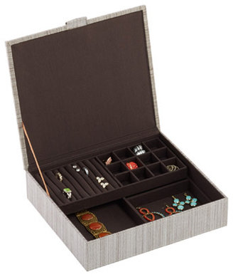 Container Store Parker Jewelry Box Cappuccino